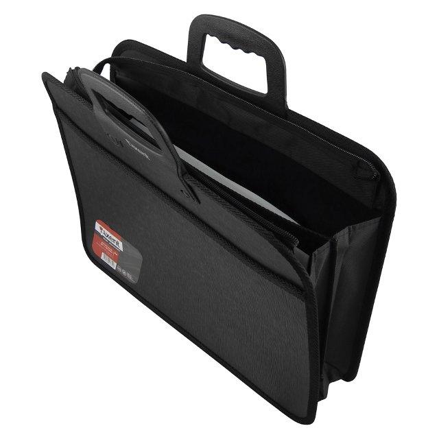 2908059f407b Портфель пластиковый Axent А4 на 2 отделения черный 1612-01 купить в ...