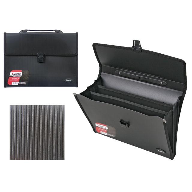 6f9f3613c118 Портфель пластиковый Axent А4 на 3 отделения черный 1601-01 купить в ...