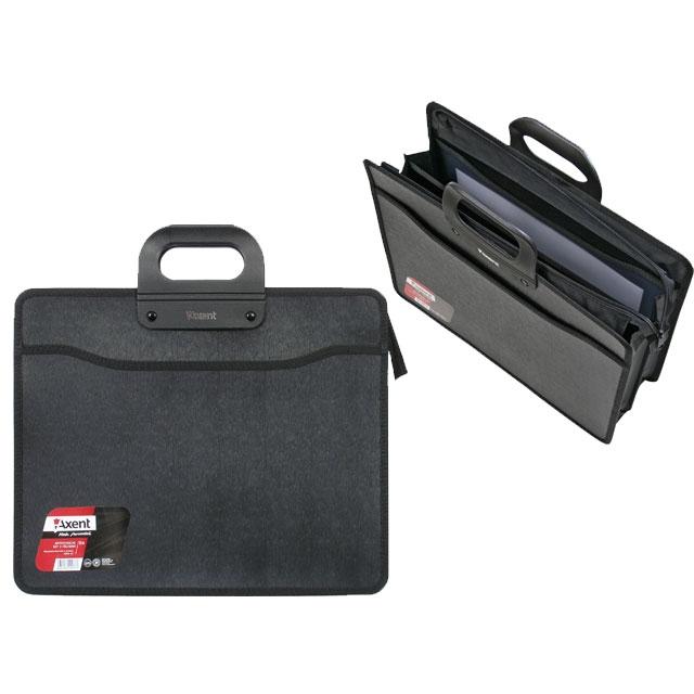 36a271ed3301 Портфель пластиковый Axent В4 на 3 отделения черный 1603-01 купить в ...