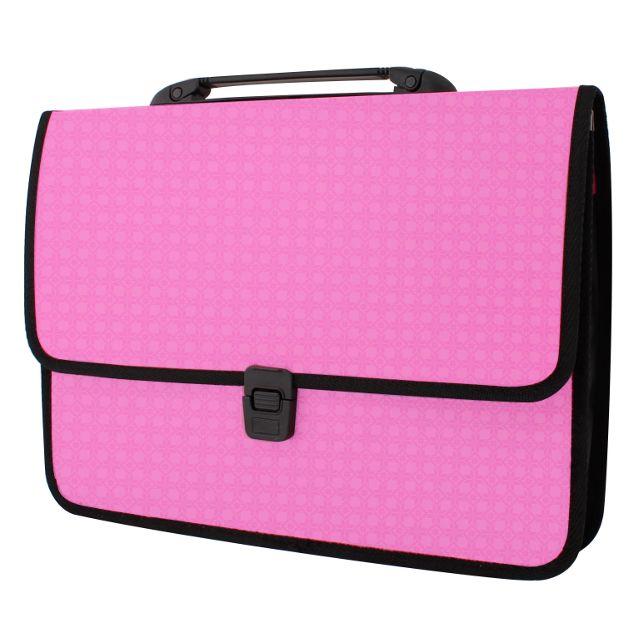 8a8d8e02b7c3 Портфель пластиковый EconoMix Вышиванка А4 на застежке розовый ...