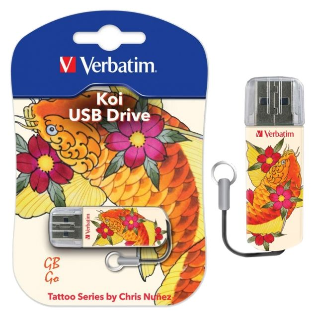 "Флеш-память Verbatim Mini USB 2.0 16Gb Tattoo Edition ""Карп Кои"""