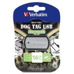 Флеш-память Verbatim Store'n'Go USB 2.0 Dog Tag 16Gb