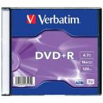 Диск DVD+R Verbatim Colour 16x 4.7Gb slimCase