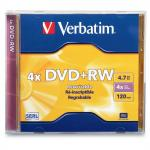 Диск DVD+RW Verbatim Colour 4x 4.7Gb slimCase