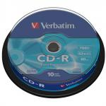 Диски CD-R Verbatim Extra Protection 52x 700Mb туба 10шт