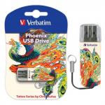 "Флеш-память Verbatim Mini USB 2.0 16Gb Tattoo Edition ""Феникс"""