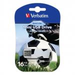 "Флеш-память Verbatim Mini USB 2.0 16Gb Sports Edition ""Футбол"""