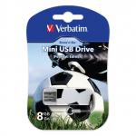"Флеш-память Verbatim Mini USB 2.0 8Gb Sport Edition ""Футбол"""