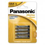 Батарейки Panasonic 1.5В ALKALINE POWER LR03 ААА 4шт