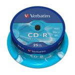 Диски CD-R Verbatim Extra Protection 52x 700Mb туба 25шт