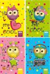 Блокнот на спирали А6 Zibi Cool Owls 40 листов в клетку