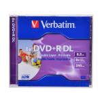 Диски DVD+R Verbatim Dual Layer 8x 8.5GB Jewel Case
